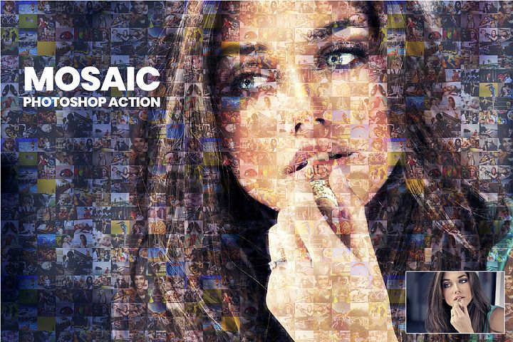 Mosaic Photoshop Action