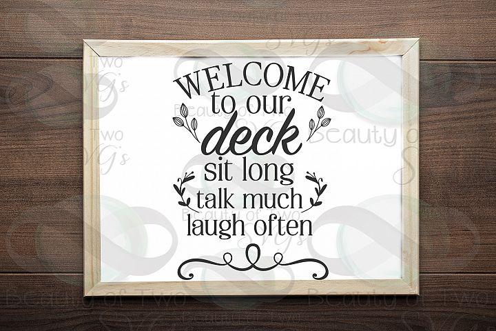 Welcome to our deck sign svg, Summer Farmhouse svg and png,