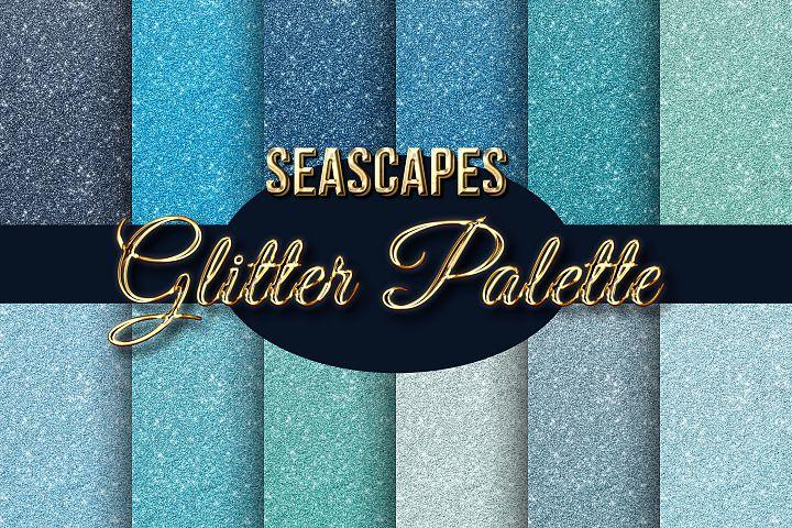 Seascapes Blue Palette Glitter Backgrounds