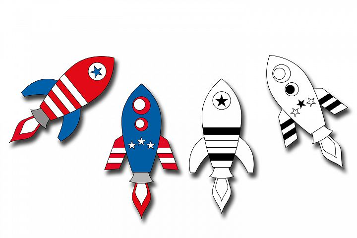 Rockets 4th of July graphics illustrations example 1