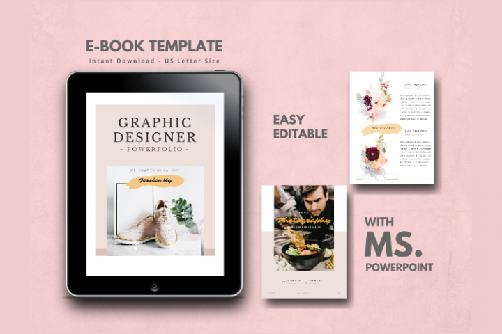 Graphic Designer Portfolio eBook Template PowerPoint Present