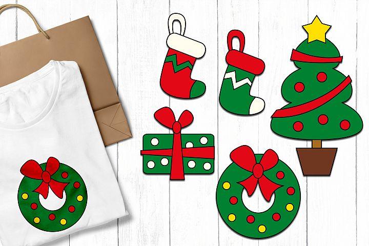 Christmas clip art illustrations