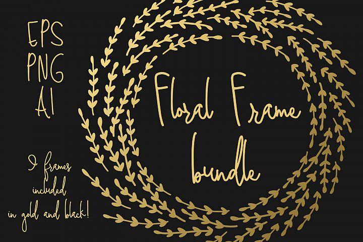 10 Gold Foil Wreaths