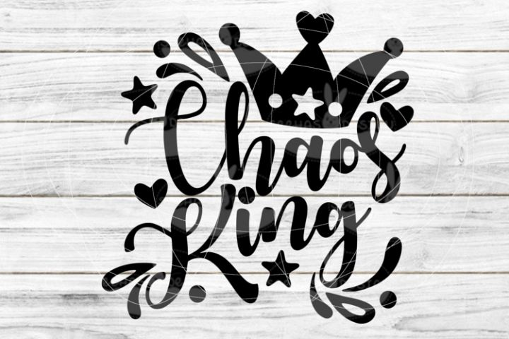 File Chaos King for Cutting Lasercut Print SVG PDF EPS