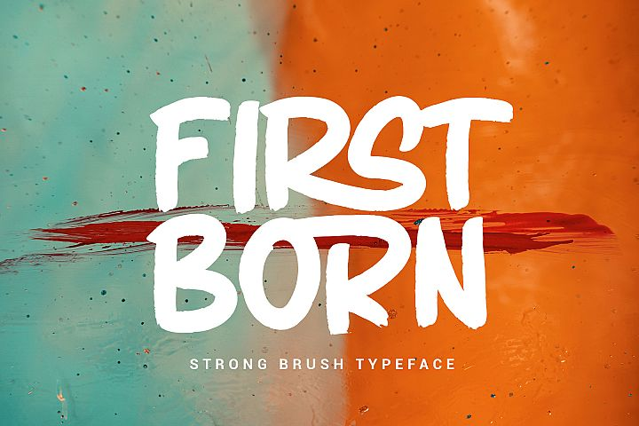 FIRSTBORN // BRUSH TYPEFACE
