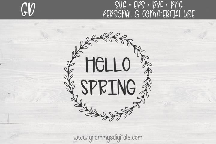 Hello Spring SVG File