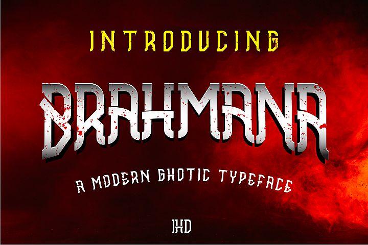 Brahmana - Modern Gothic Serif Sports Typeface