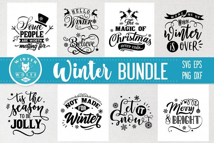 Winter Bundle 9 designs SVG EPS DXF PNG