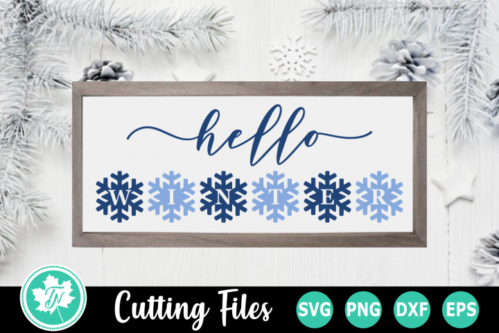 Hello Winter - A Christmas SVG Cut File