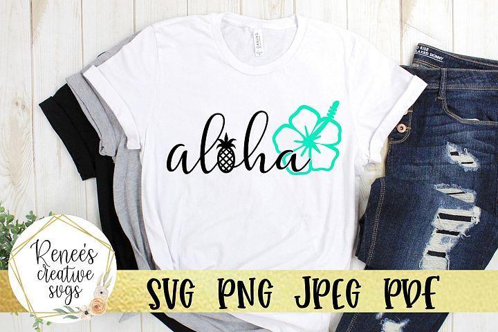 Aloha W/Flower| Summer | SVG Cut File