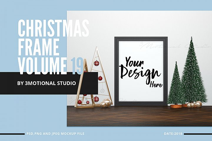 Christmas Frame Mockup Volume 19