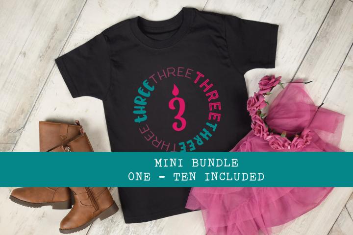 Birthday Bundle - Ages 1 - 10 Shirt Designs