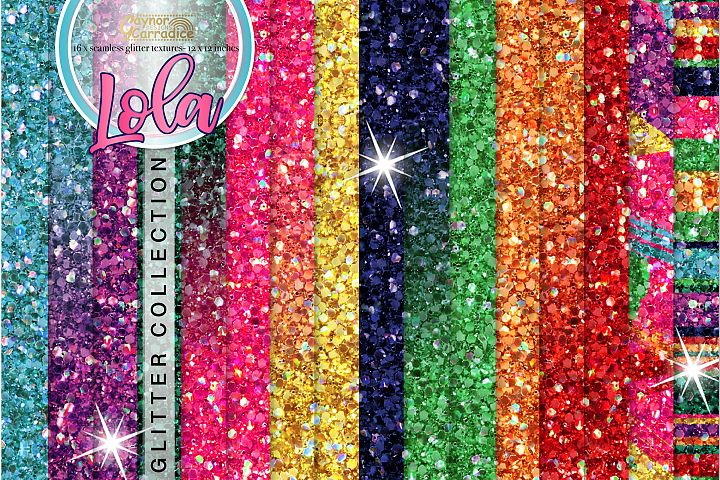 Mexican seamless Glitter backgrounds