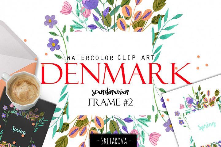 Denmark. Scandinavian floral frame #2