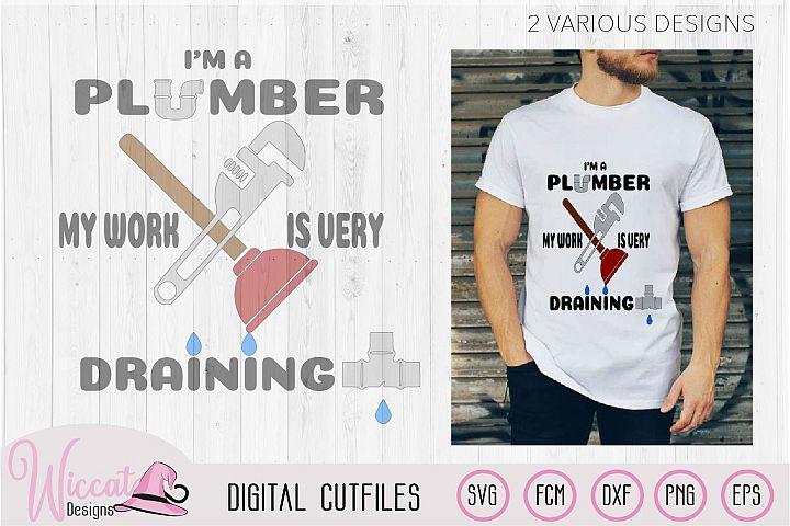 Im a plumber quote, Plumber pun, plumber tools, man shirt,