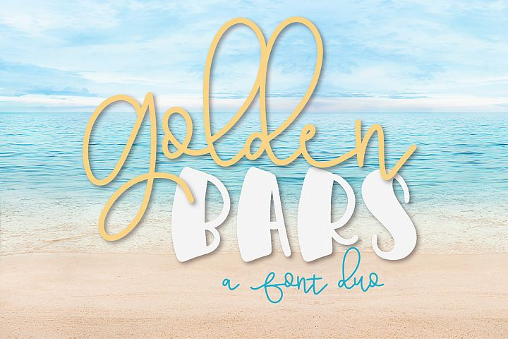Golden Bars - A Font Pair