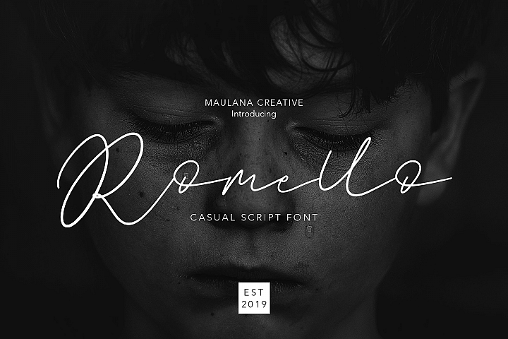 Romello Brush Signature Font