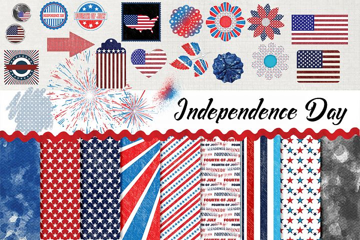 Independence Day Digital Scrapbook Kit