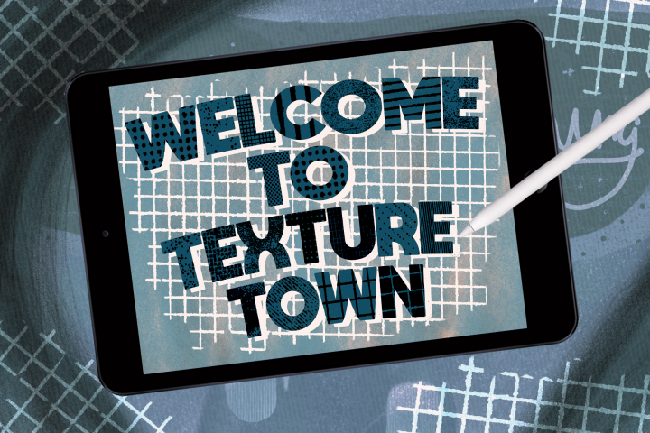 Welcome to Texture Town set for procreate