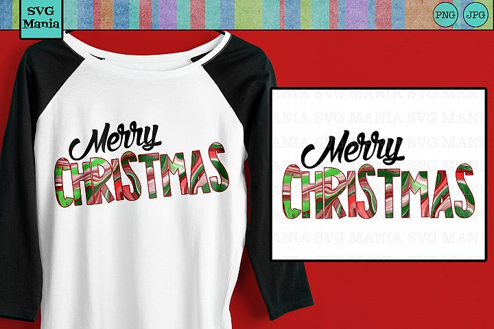 Sublimation Download Merry Christmas, Christmas Sublimation