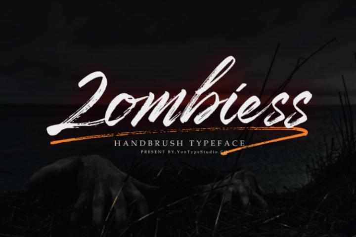 Zombies Hand Brush font