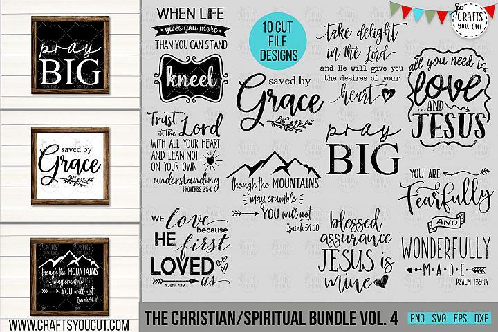 Christian/Spiritual Bundle Vol. 4- An SVG Cut File Bundle
