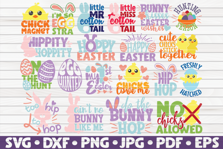 Easter Bundle SVG| 20 designs | Easter cute funny sayings
