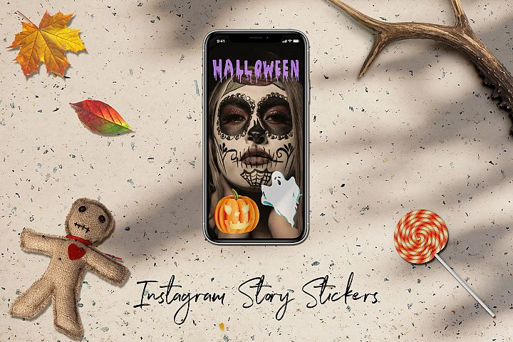 Instagram Story Stickers, Halloween Instagram Stickers