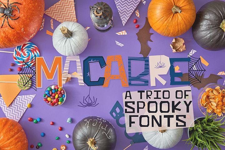 MACABRE - A Halloween Font Trio