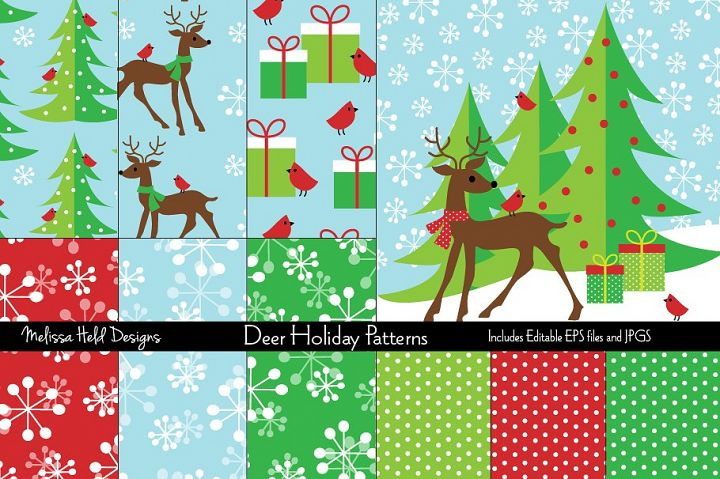 Deer Holiday Patterns