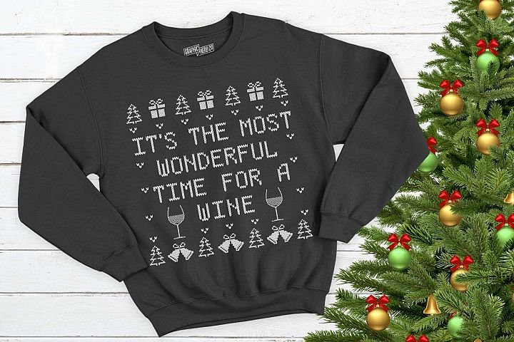 Its the most wonderful time for a wine Christmas Printable