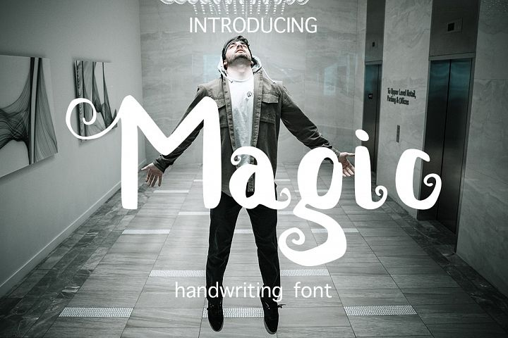 Magic handwritten brush font