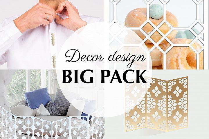 33 SVG templates, Arab geometric pattern, Islamic ornament