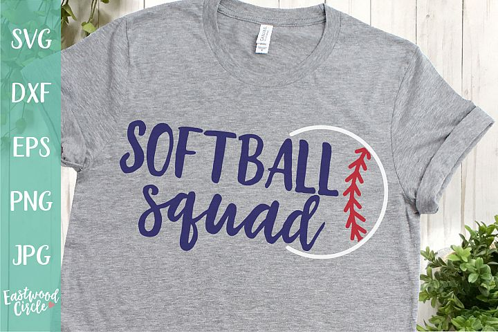 Softball Squad - A Softball SVG Cut File for Crafters