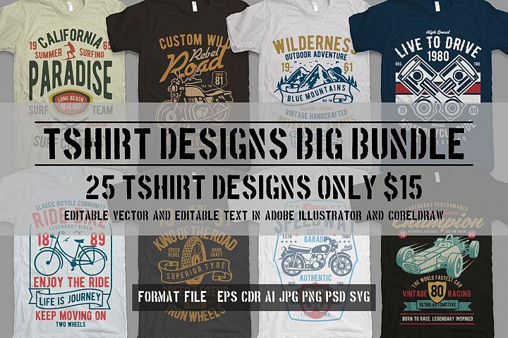 25 Premium Tshirt Designs Big Bundle 6