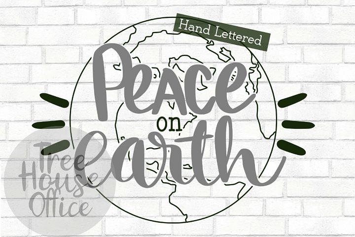 Peace On Earth Christmas Song Quote Holiday Winter Cut File