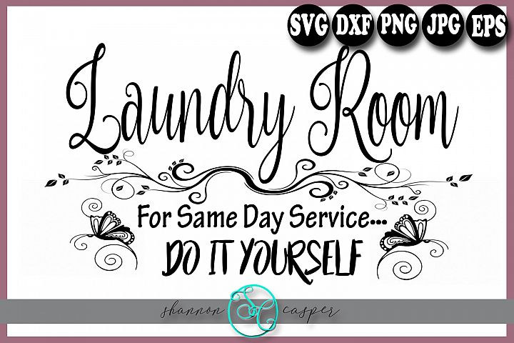 Laundry Room Sign SVG
