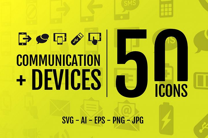 50 Icons - Comunication Devices