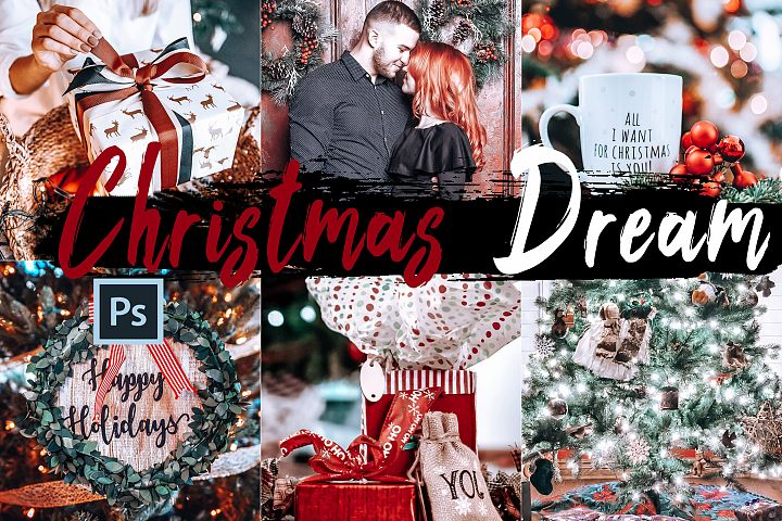 05 Christmas Dream Photoshop Actions, ACR and LUT presets