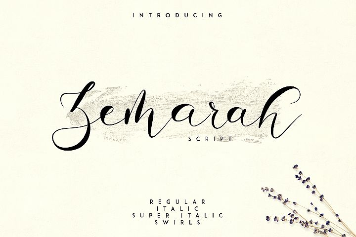 Zemarah script - 3 styles Extras