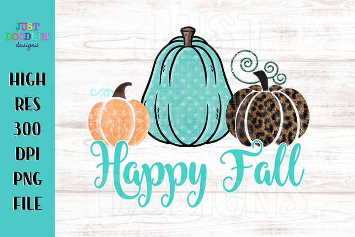 Happy Fall 3 Pumpkin PNG file