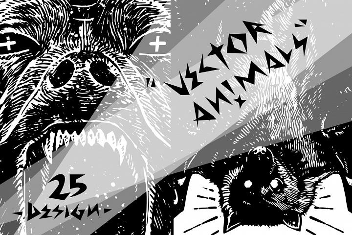 25 Design Vector Animals