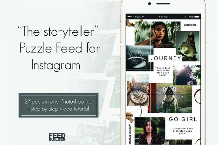 Instagram Puzzle Feed Template The Storyteller