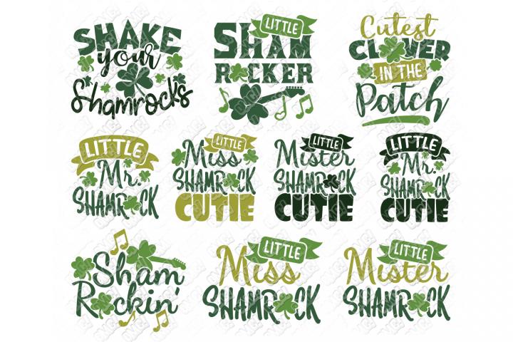 Shamrock SVG Quotes Clover in SVG, DXF, PNG, EPS, JPEG