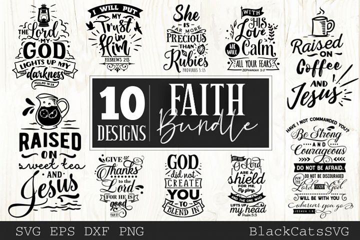 Faith SVG bundle 10 designs Christian SVG bundle vol 3