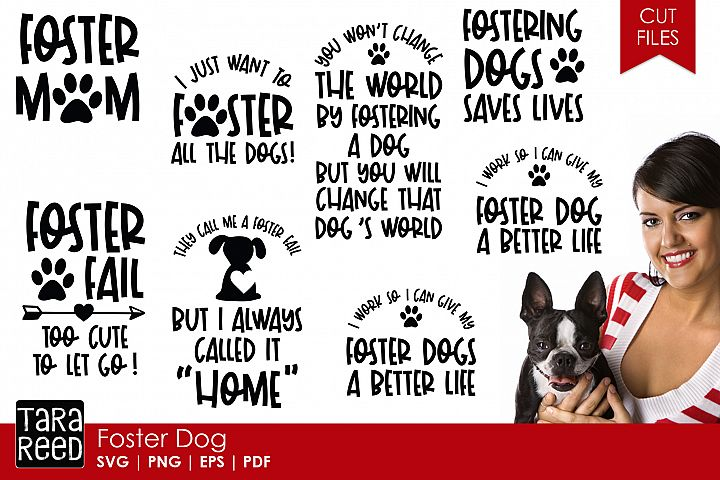 Foster Dog - Dog SVG and Cut Files for Crafters