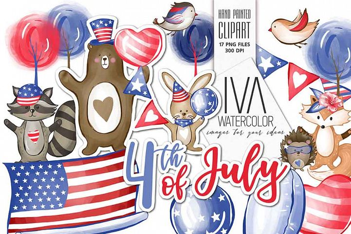 4th of July Clipart, Independence Day