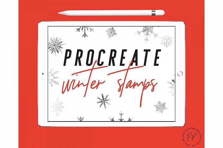 20 Winter and Holiday Procreate Stamps