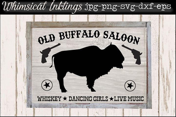 Old Buffalo Saloon SVG