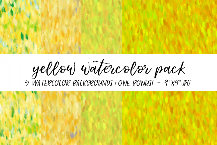 Yellow Watercolor Backgrounds